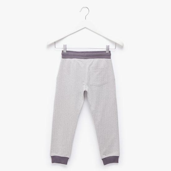 Textured Jog Pants with Pockets and Drawstring