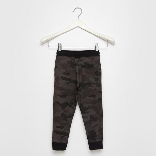 Camouflage Print Jog Pants with Pocket Detail and Drawstring Closure