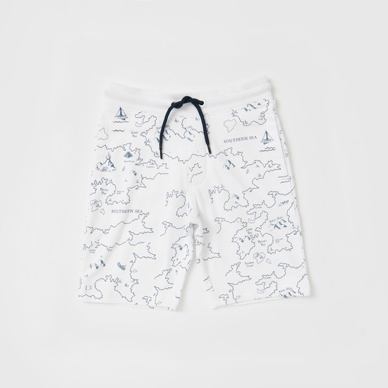 Graphic Print T-shirt with Shorts