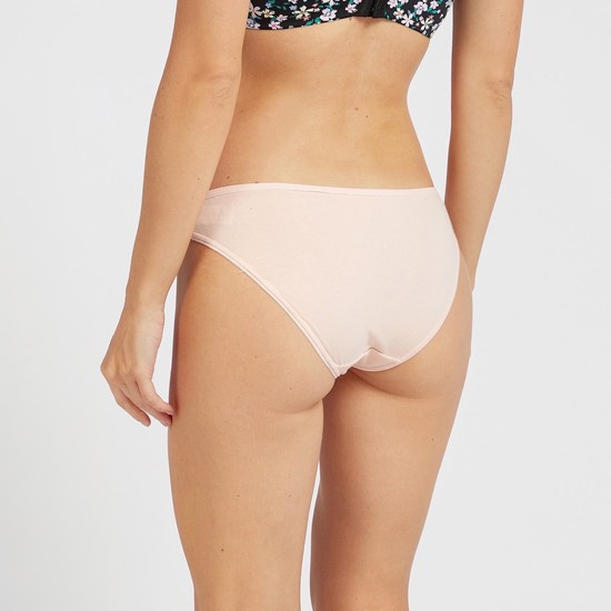 Pack of 5 - Assorted Low-Rise Bikini Briefs with Elasticised Waistband
