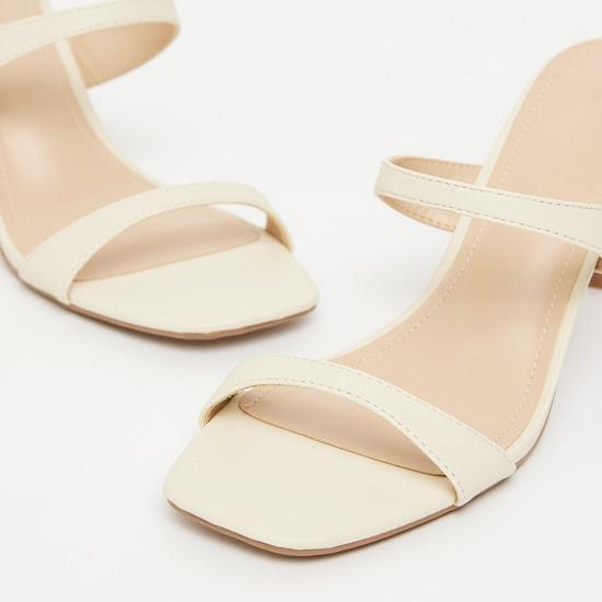 حذاء سهل الارتداء بكعب سميك ومقدّمة مفتوحة