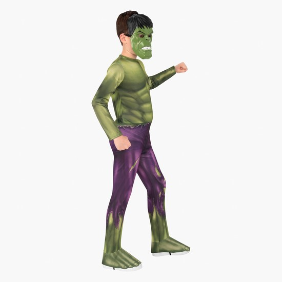 Hulk Themed Long Sleeved Jumpsuit with Mask