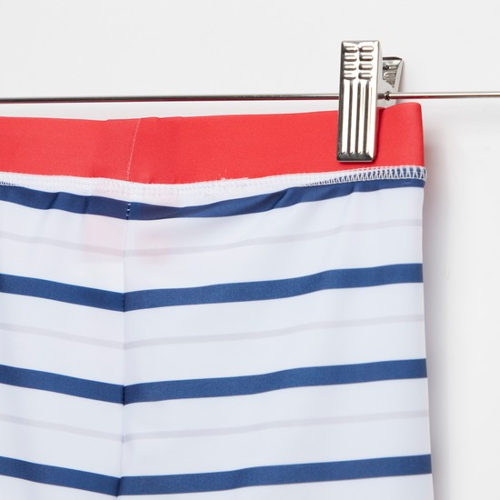 PAW Patrol Print Striped Swim Trunks with Elasticised Waistband