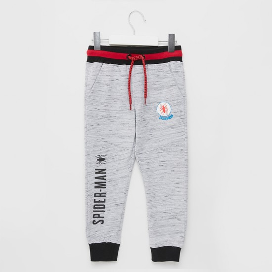 Spider-Man Graphic Print Jog Pants with Drawstring Closure