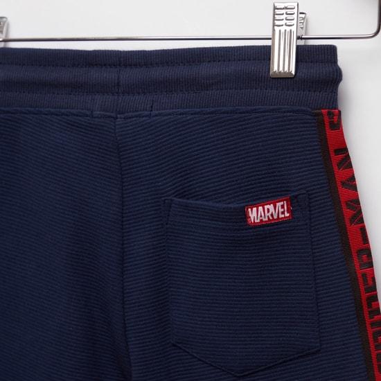 Spider-Man Print Shorts with Pockets and Drawstring Closure