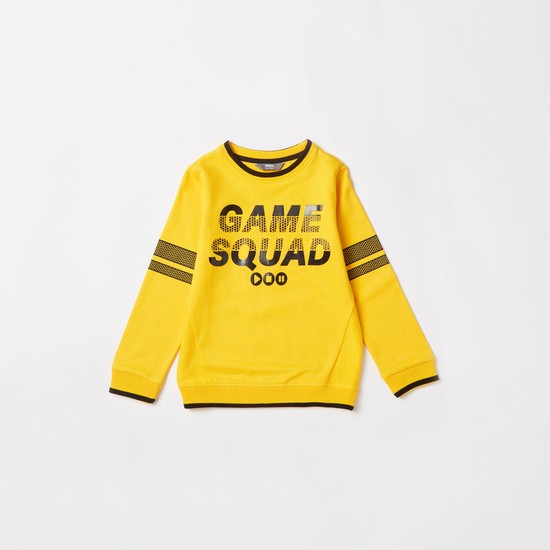 Games Squad Print Sweatshirt and Full Length Jog Pants Set