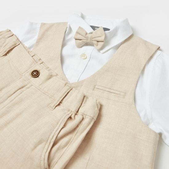 Textured 3-Piece Suit Set