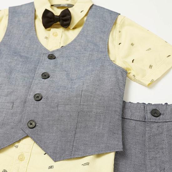 طقم ملابس بطبعات من 3 قطع