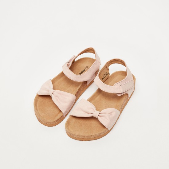 Bow Detail Sandals with Ankle Strap