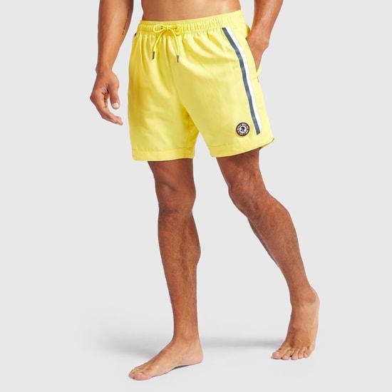- Printed Shorts with Drawstring Closure and Pockets