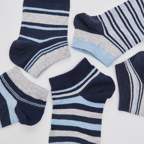 Set of 5 - Ankle Length Striped Socks