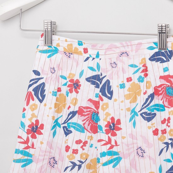 All Over Print Culottes with Semi Elasticated Waist