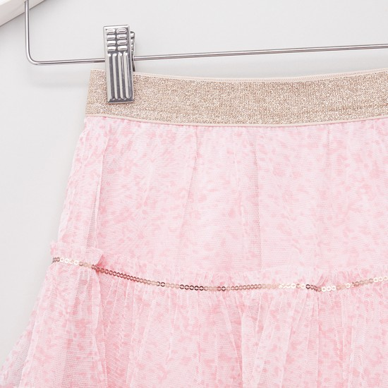 Textured Skirt with Elasticised Waistband