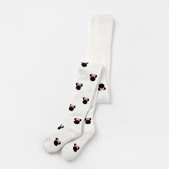 فستان كنزة ميني ماوس بتزيينات مع جوارب مغلقة القدمين