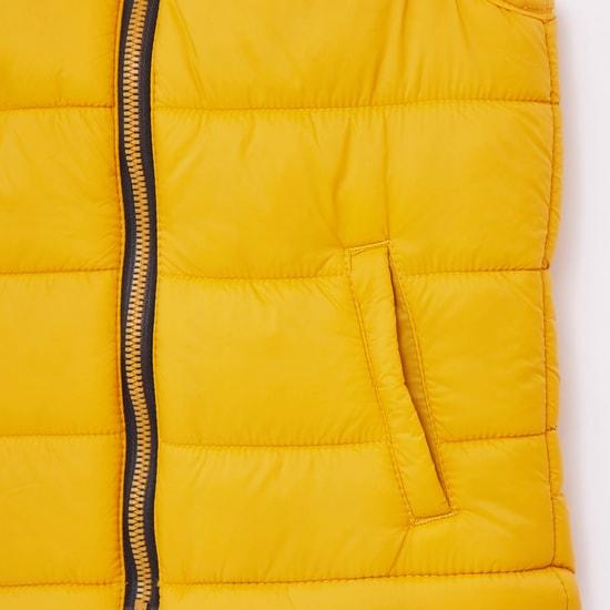 Solid Sleeveless Gilet Jacket