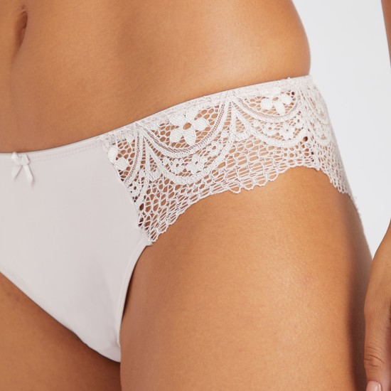 Set of 2 - Assorted Bikini Briefs with Lace Insert