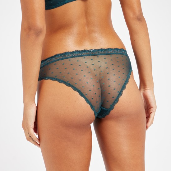 Lace Detail Low-Rise Bikini Brief with Elasticised Waistband