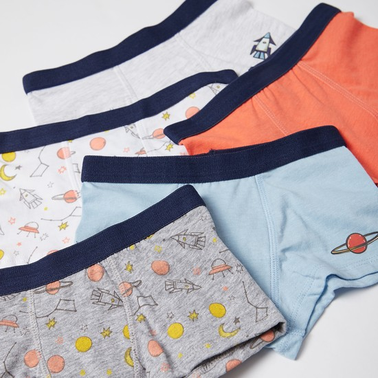 Set of 5 - Rocket and Space Print Briefs