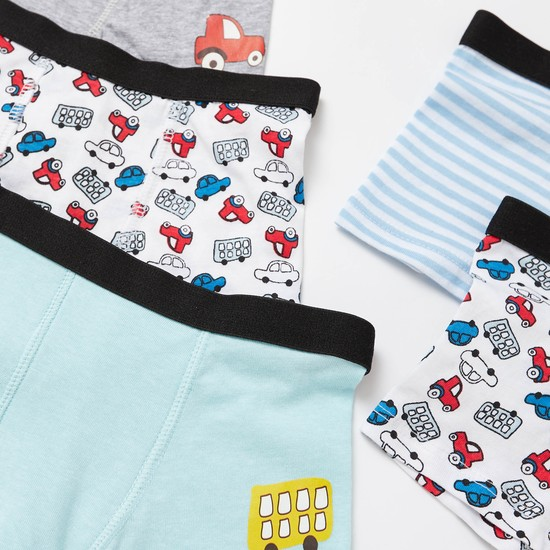 Pack of 5 - Printed Briefs with Elasticised Waistband