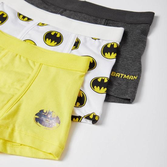 شورتات ترانك بخصر مطّاطي وطبعات باتمان - طقم من 3 قطع