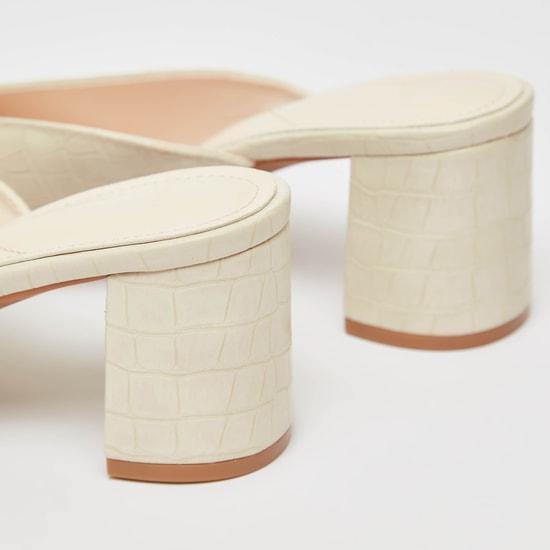 حذاء باليرينا سهل الارتداء بمقدمة مدببة بارز الملمس جلد زواحف