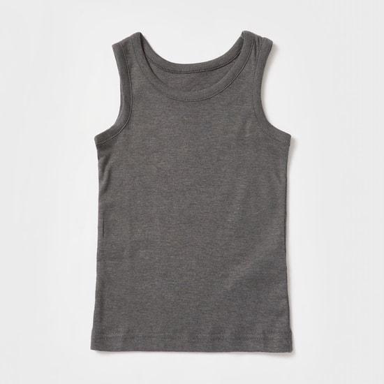 Set of 2 - Solid Sleeveless Vest
