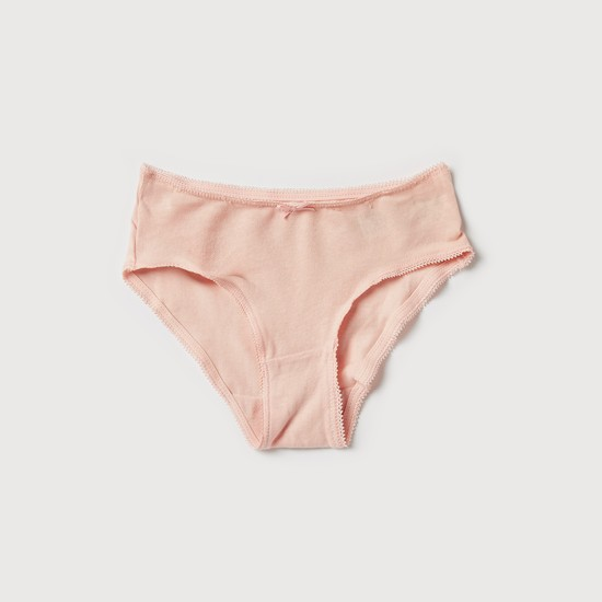 Set of 5 - Bow Detail Briefs with Elasticised Waistband