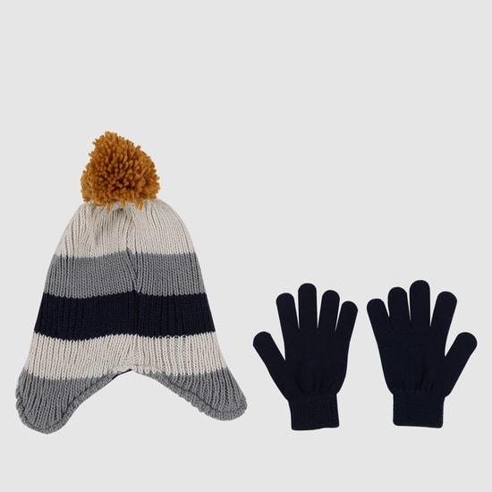 Beanie Cap and Gloves Set