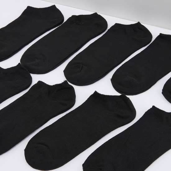 Set of 10 - Plain Ankle Length Socks