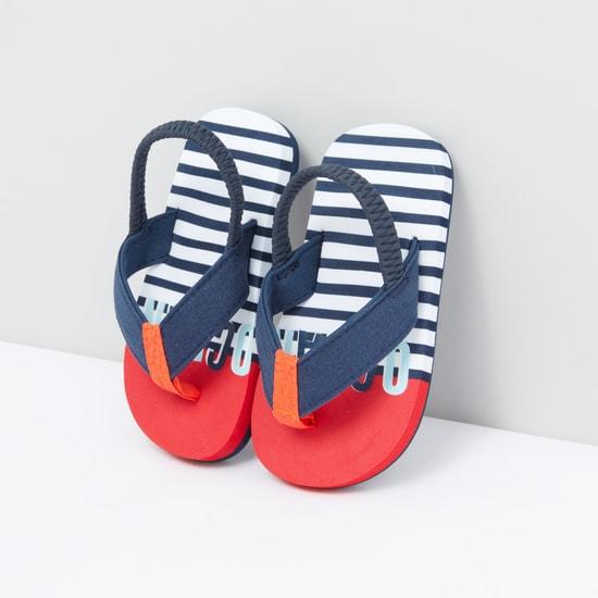 Striped Flip Flops with Back Strap