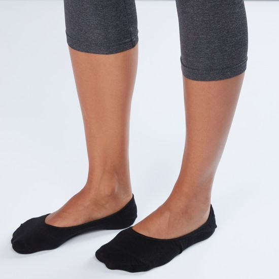 Textured No Show Socks - Set of 3
