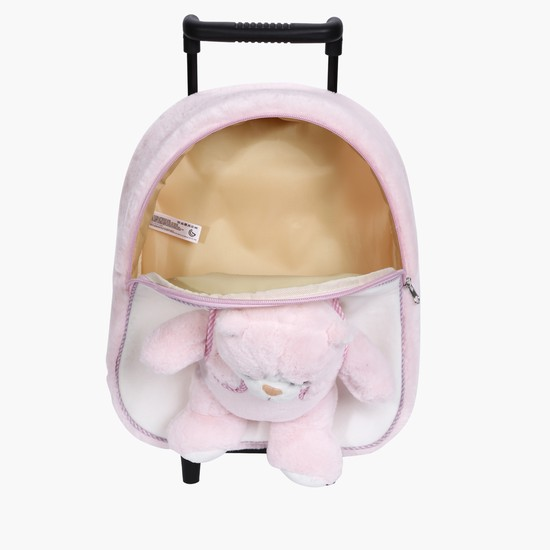 Plush Cat Trolley Bag