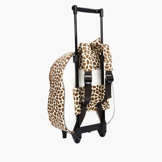 Printed Giraffe Trolley Backpack