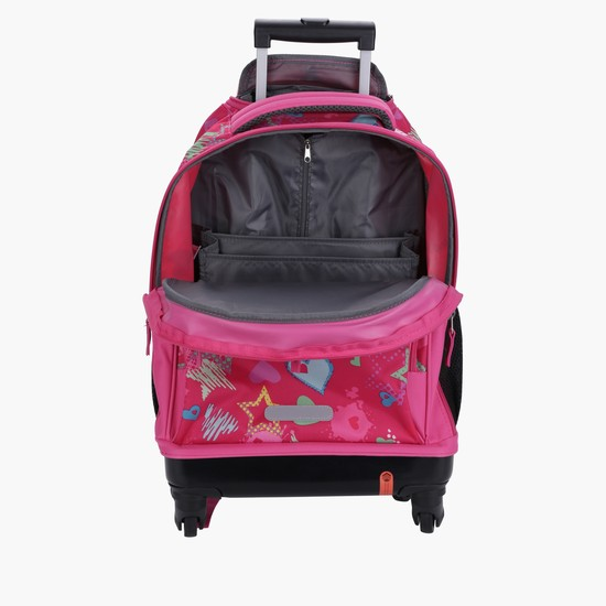 Printed Trolley Bag with Two Wheels