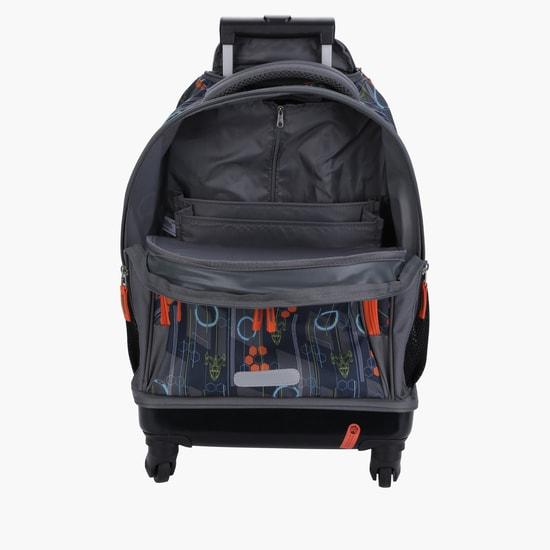 Printed Trolley Backpack