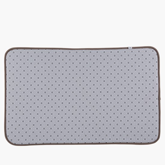 Textured Rectangular Bathroom Mat - 50x80 cms