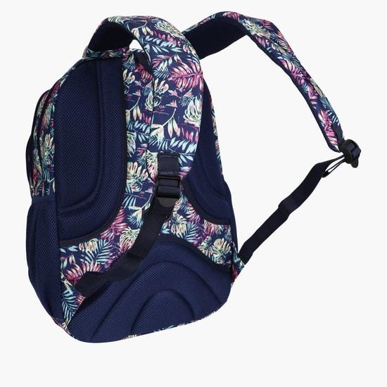 Printed Backpack with Zip Closure