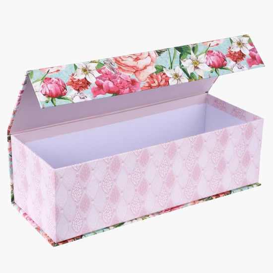 Printed Gift Box with Flap Closure