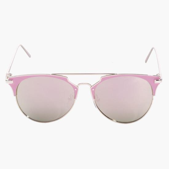 Oval Metallic Sunglasses