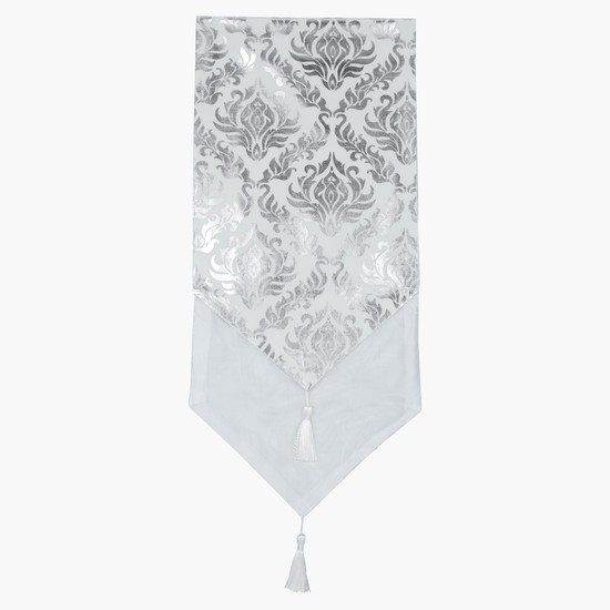 Printed Table Runner with Tassels - 30x180 cms