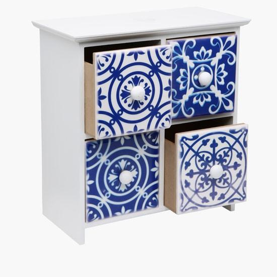 Decorative Box with 2 Shelves - 23x11x23 cms