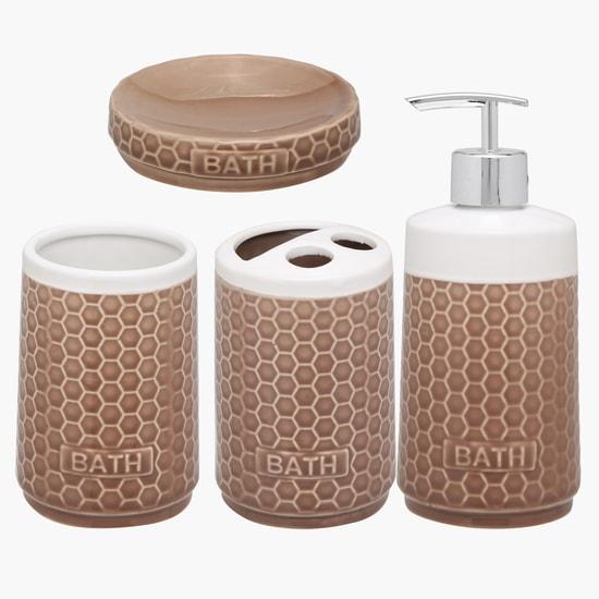 Textured 4-Piece Bathroom Set