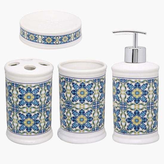 Printed 4-Piece Bathroom Set