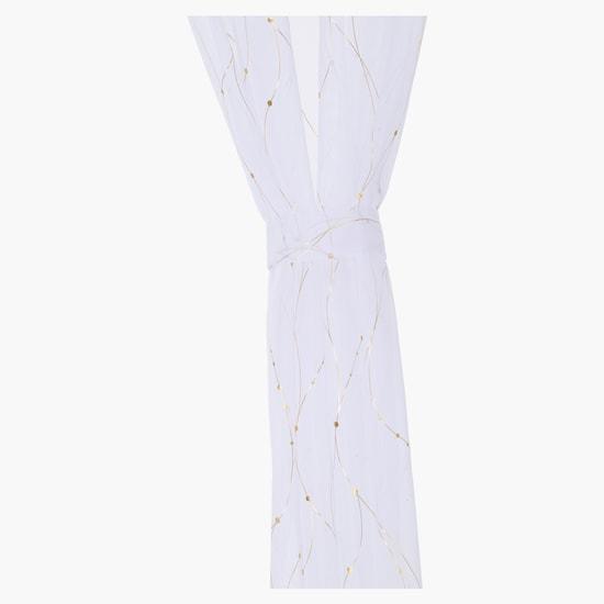 Printed Curtain Pair Set - 140x240 cms