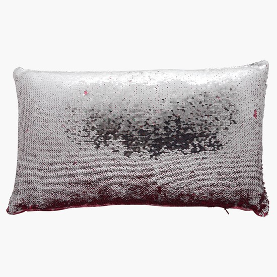 Sequin Embellished Filled Cushion - 30x50 cms