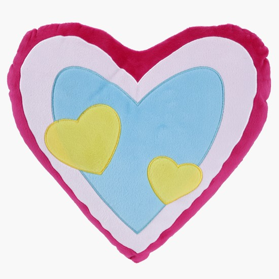 Heart Plush Cushion - 33x28 cms