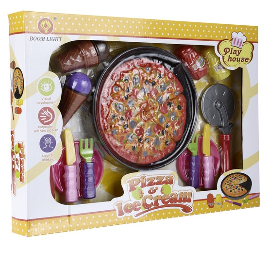 Play House Pizza and Ice Cream Set