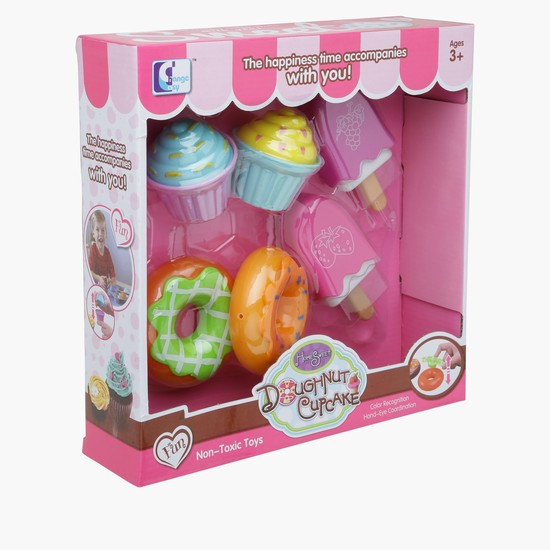 Doughnut Cupcake Toy Set