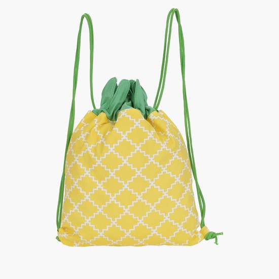 Pineapple Shape Backpack with Drawstring Closure