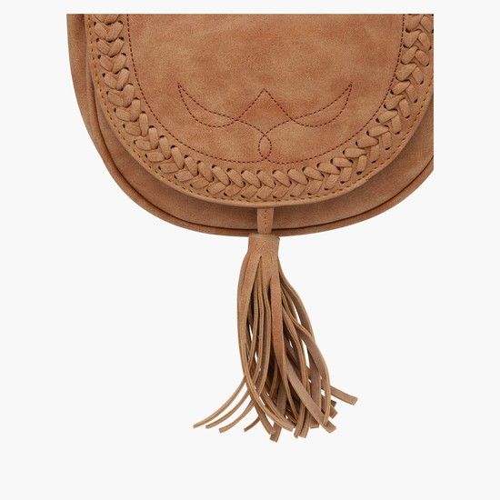 Satchel Bag with Tassels